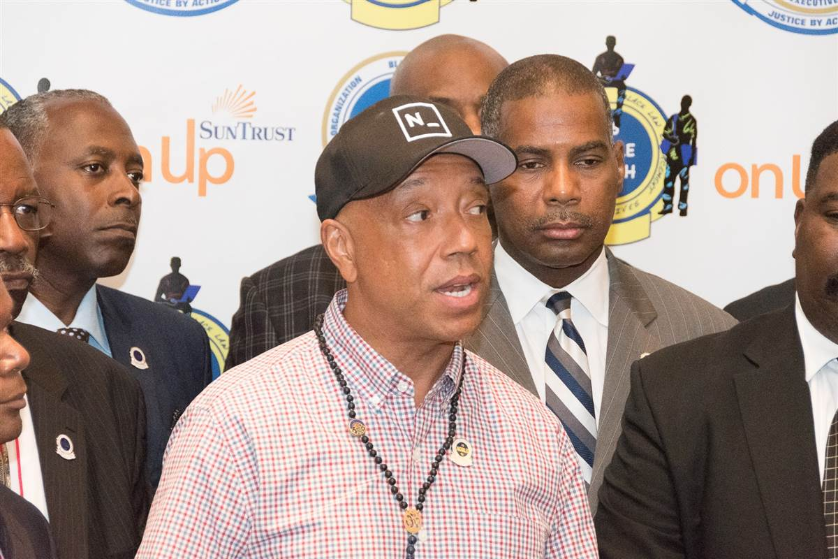 "Hip-hop mogul Russell Simmons headlines ""I Am a Muslim Too"" unity march in New York City"