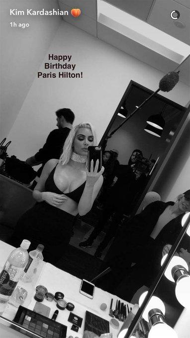 Kim Kardashian Wishes Paris Hilton Happy Birthday And Steals Her Hair ColorToo!