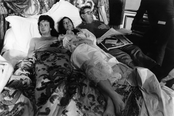 Happy birthday Milos Forman On the set of Valmont, 1989, with Colin Firth & Meg Tilly
