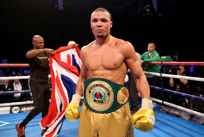 Chris Eubank Jnr showed his celebrity status again after sharing a pic with Paris Hilton