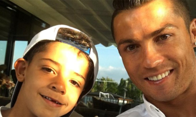 Happy birthday The footballer celebrated with his adorable son Cristiano:
