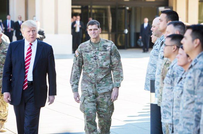 .@POTUS President #Trump and GEN Votel meet with #USTroops @DeptofDefense