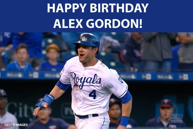 HAPPY BIRTHDAY to player Alex Gordon!