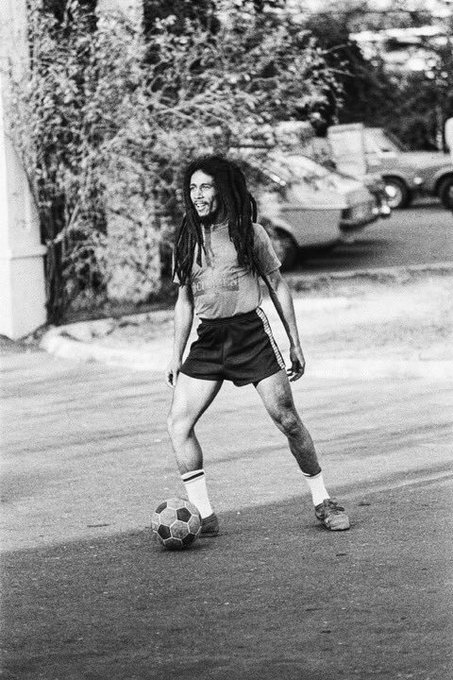"""Football is freedom.\""  Happy Birthday Bob Marley!"