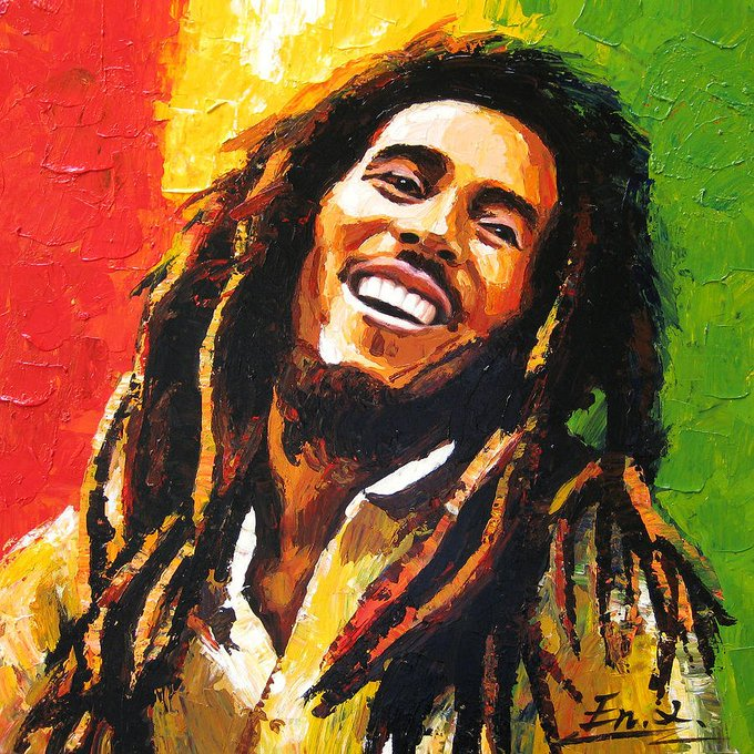 Happy Birthday, Bob Marley!  R I P --- Photo via Fine Art America