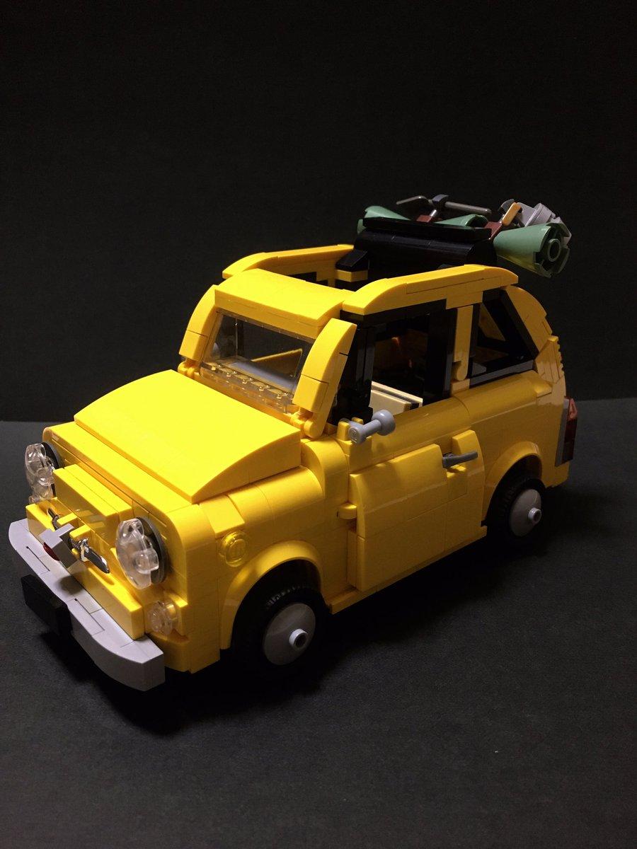 レゴで フィアット500 (チンクエチェント) LEGO Fiat500 Cinquecento カリオストロの城のルパ