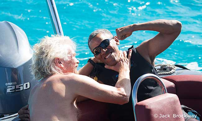 Check out the hilarious video of @richardbranson and Barack Obama's holiday challenge: