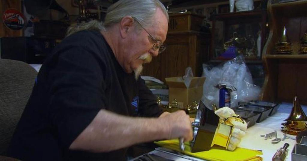 The iconic Grammy statue is the only major entertainment award that is still poured by hand