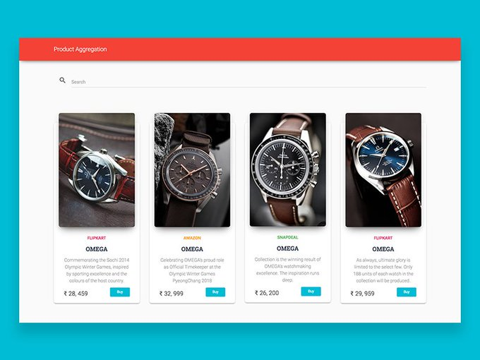 Product Aggregator   Template by DeepakKadarivel freebie