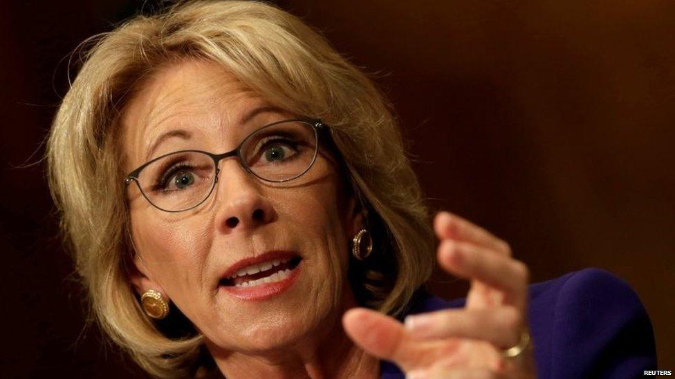 US Senate confirms Betsy DeVos will be @POTUS Donald Trump's Education Secretary