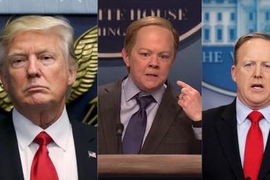 """Trump was reportedly """"rattled"""" that a woman played Sean Spicer on """"Saturday Night Live"""""""