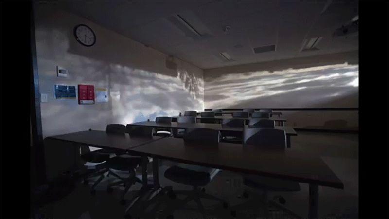 Genius Professor Turns His Classroom Into a Giant Pinhole Camera