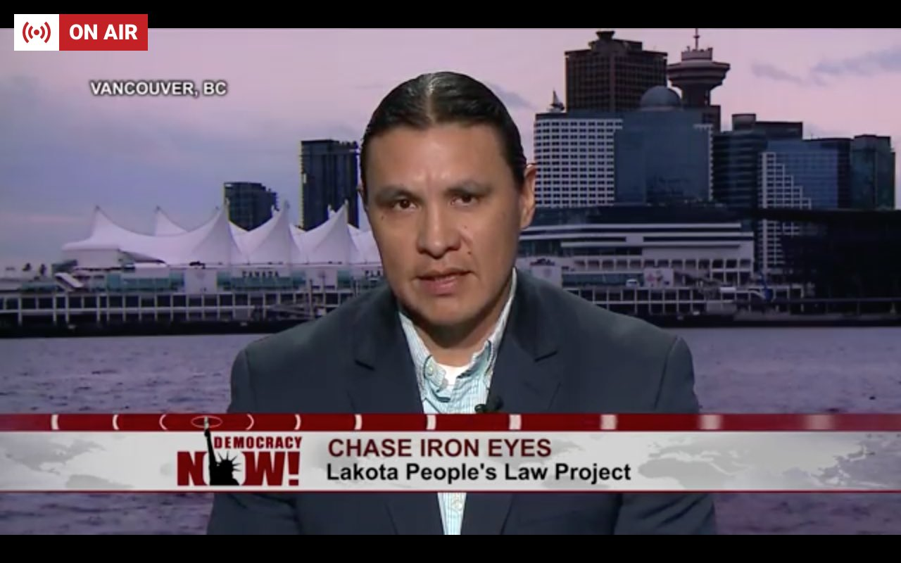 """.@ChaseIronEyes on #DAPL: """"The Trump administration is making it very clear that they intend to destroy our only drinking water resource"""" https://t.co/cEG2Rm1Lnc"""