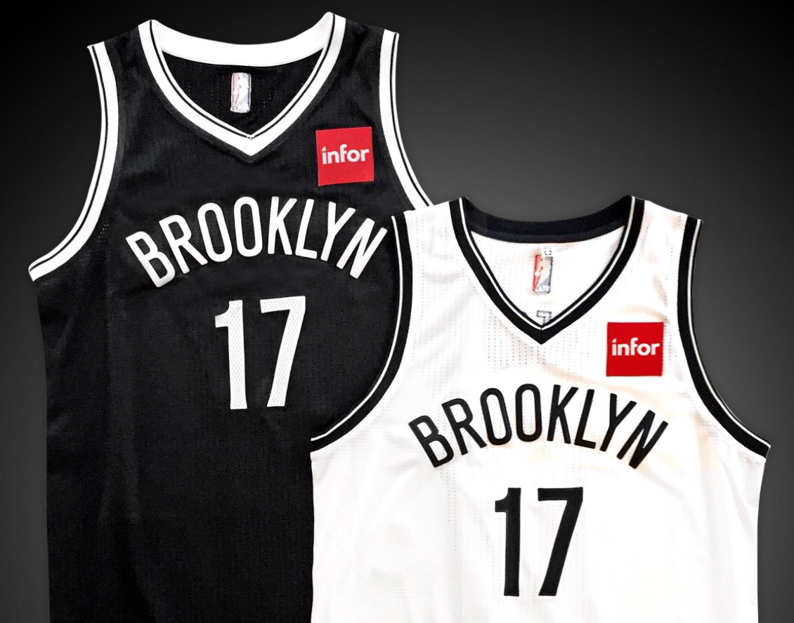Brooklyn nets sign jersey ad deal with cloud software company infor ... 9eee6ad45