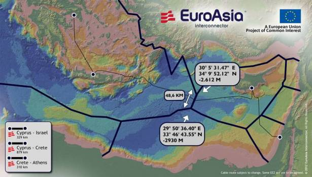 Electricity cable aims to link Cyprus, Egypt, Greece