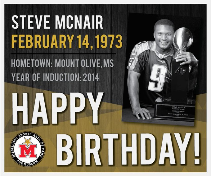Happy Birthday, Steve McNair! Learn more: