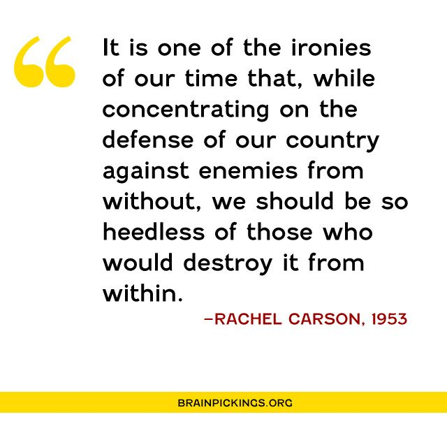 Rachel Carson's brave and prescient 1953 letter against the government's assault on science and nature https://t.co/Ni1O9Pq6Tc #ShePersisted