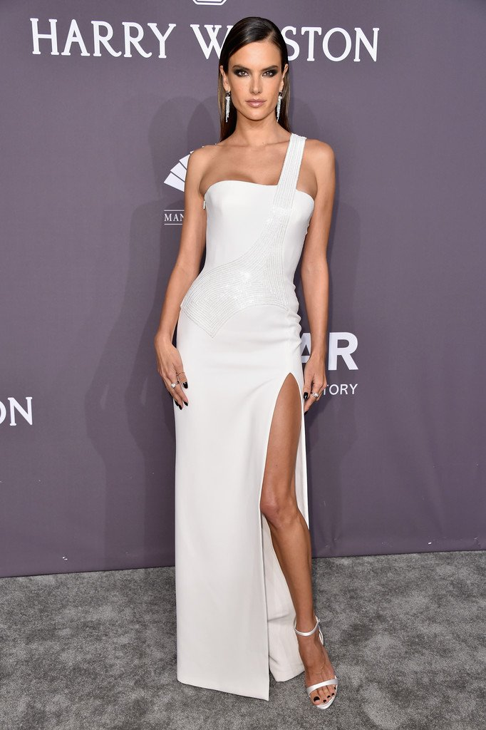 Alessandra Ambrosio Wore A White Gown To The New York Gala Newyork