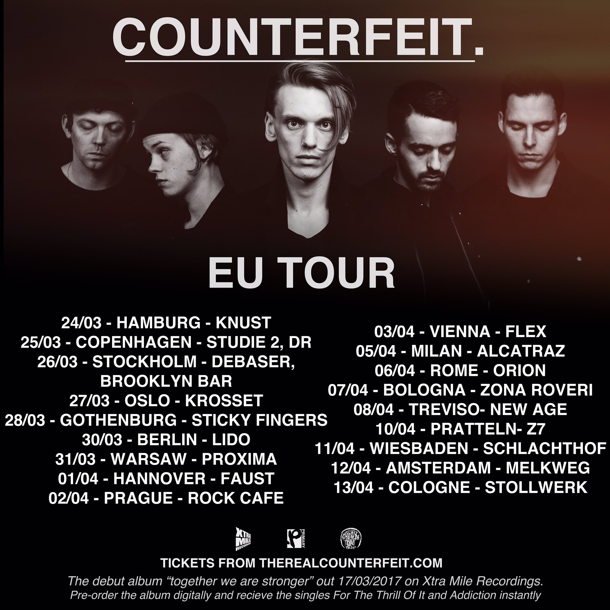 EUROPE ITS ON. MARCH / APRIL. Tickets going fast so get them whilst you can from https://t.co/ArEdyMcxKq https://t.co/EKcFXatA7F