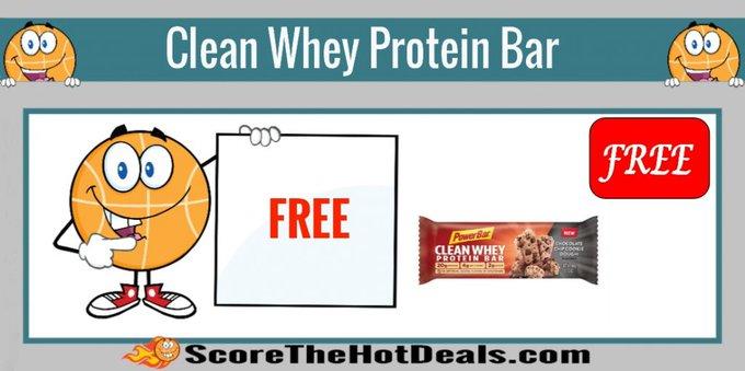 *FREE* Clean Whey Protein Bar!free freebies freebie