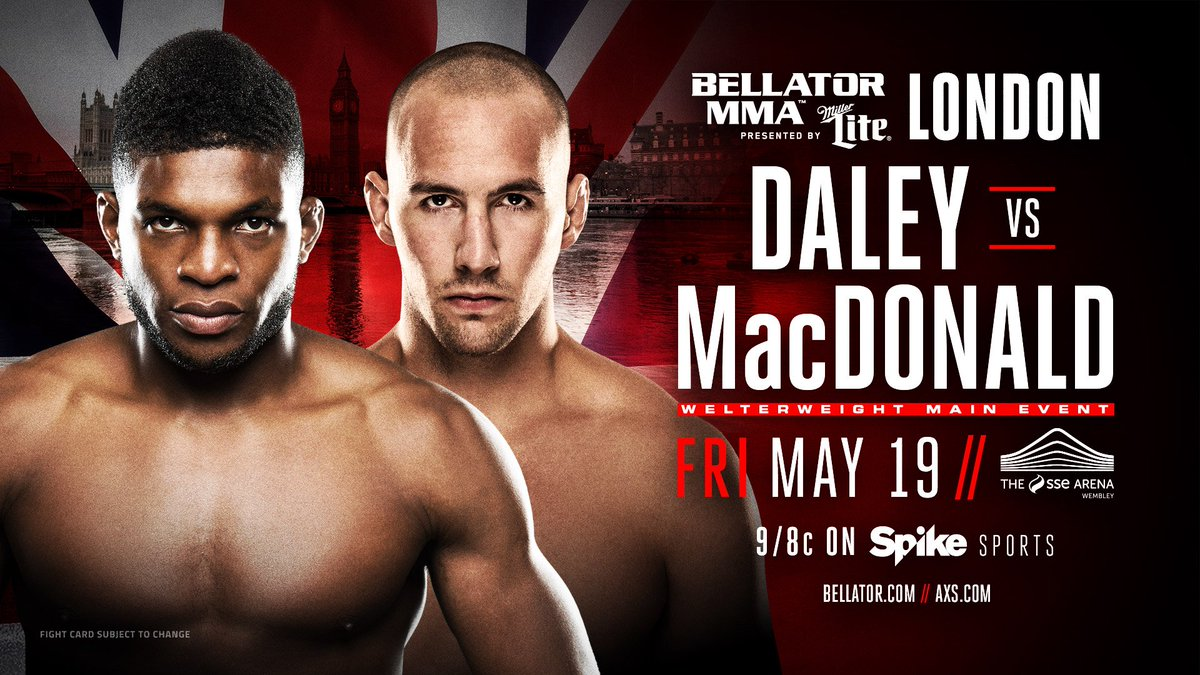Bellator 179: Rory MacDonald vs Paul Daley.