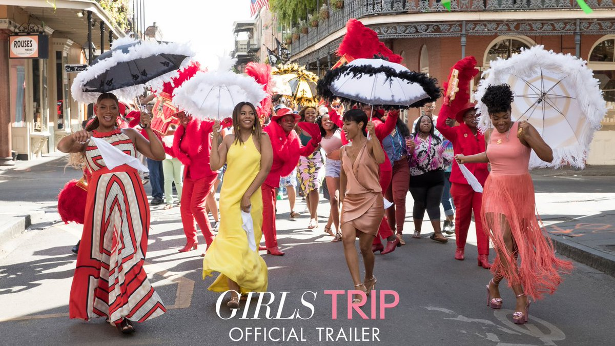 RT @girlstripmovie: This July, they're ready to SET. IT. OFF. Watch the #GirlsTrip red band trailer now. https://t.co/7gupiRT67c