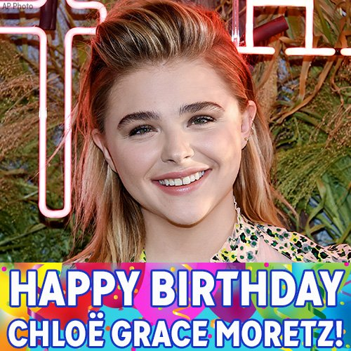 "Happy Birthday to Chloe Grace Moretz! The ""Kick-Ass\"" and \""Hugo\"" star turns 20 today."