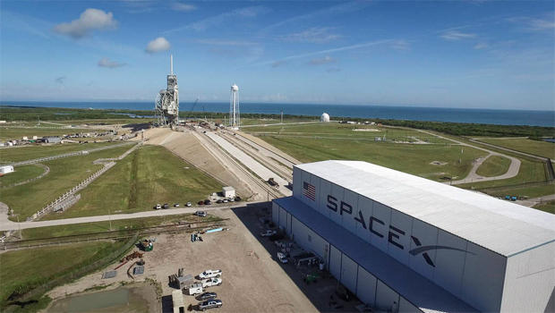 SpaceX is readying a historic launch pad at the Kennedy Space Center for a Falcon 9 rocket