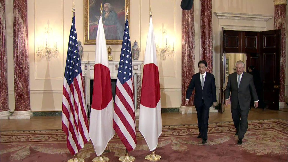 This morning, Secretary Tillerson met with #Japan's Foreign Minister Kishida in Washington.