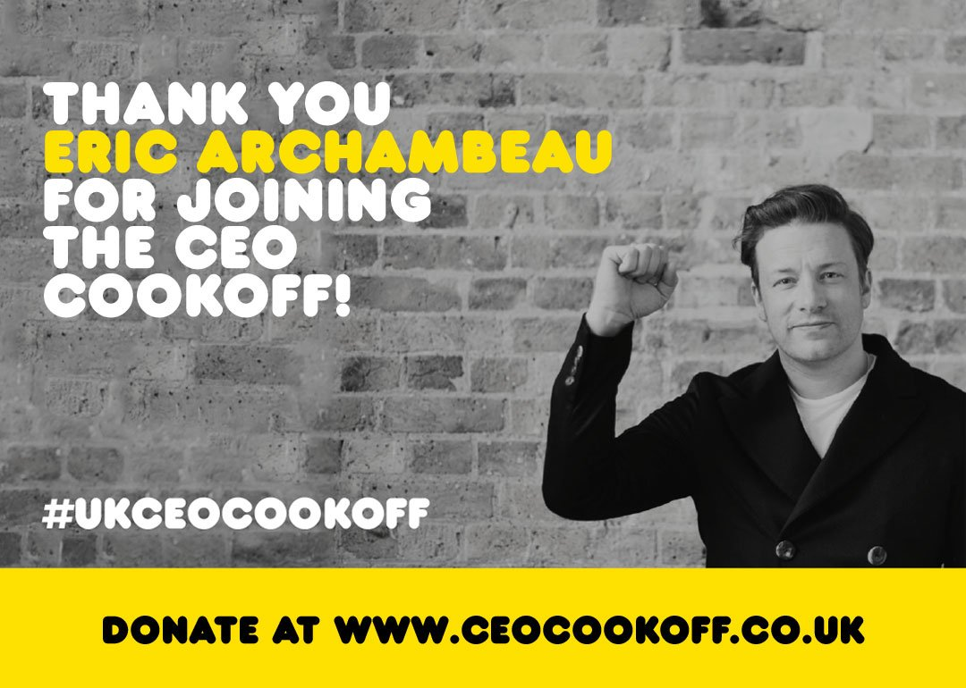 Big thanks for joining me in the #UKCEOCookOff @archibeau! such a great cause and cant wait for it!!! @Quadia_Impact https://t.co/i3dzPCiIjw