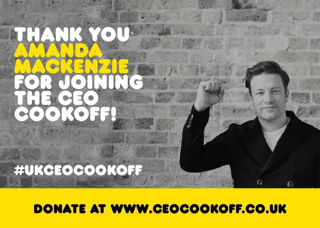Thanks Amanda from @BITC for signing up to cook with me and my chef mates for charity! #UKCEOCookOff https://t.co/kHewXgShOE