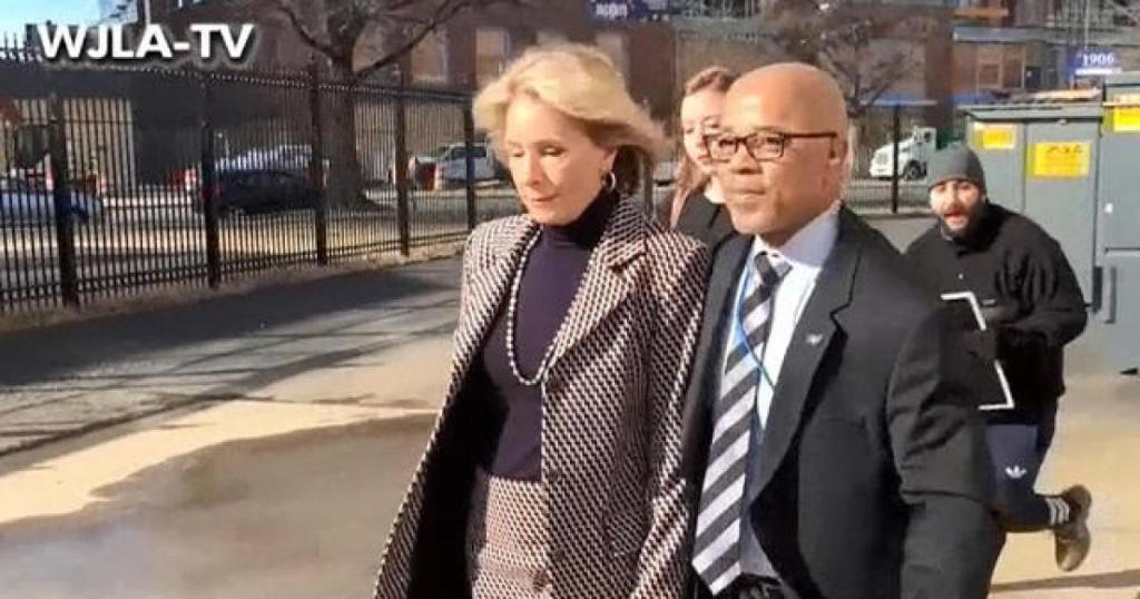 Betsy DeVos blocked by protesters during 1st visit as education secretary to D.C. school