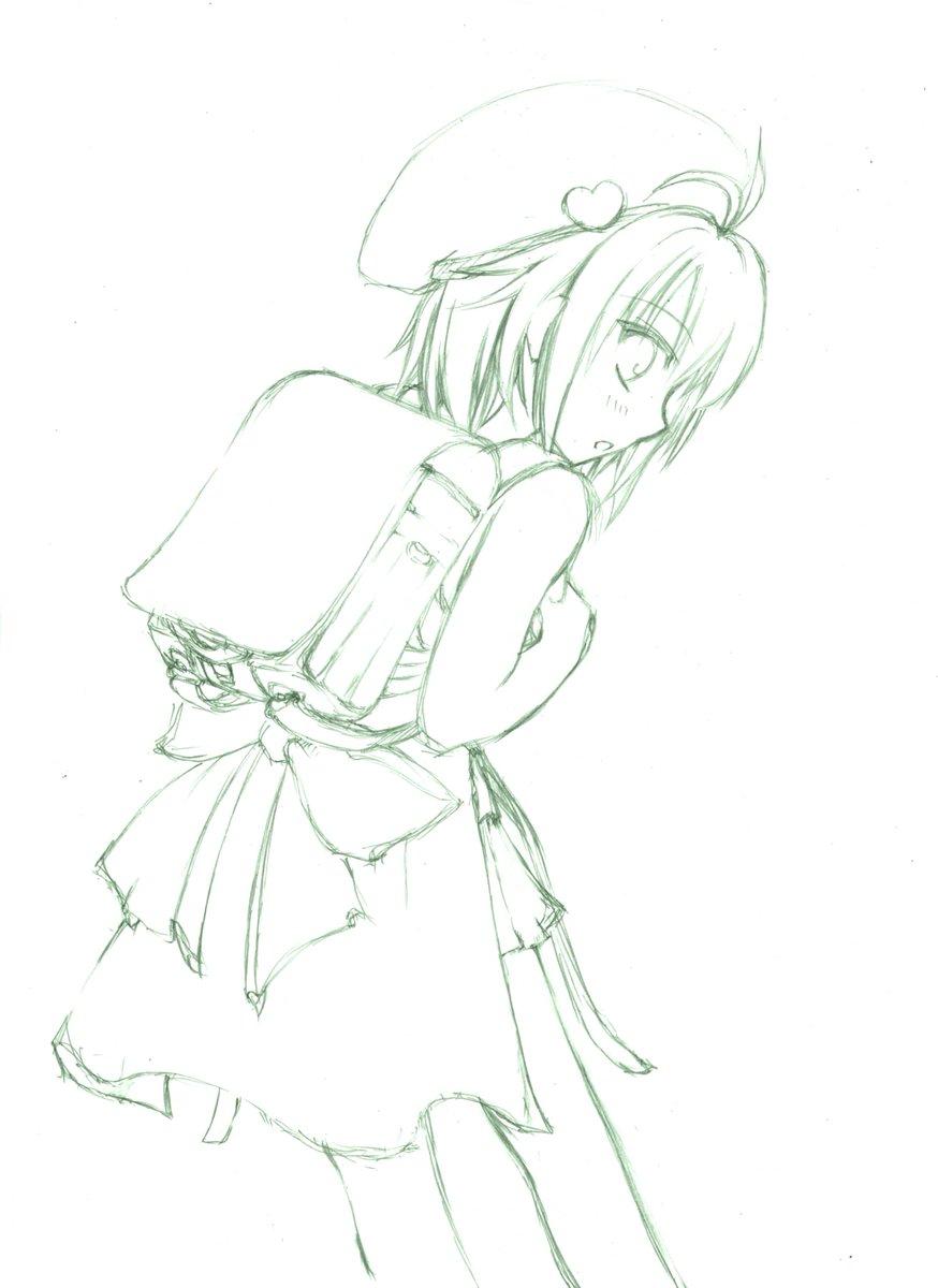 【花騎士落書き】メイドラゴン見てて、カンナちゃんのとあるシーンが可愛すぎたのでろりサボテンちゃんに真似してもらいましたヾ