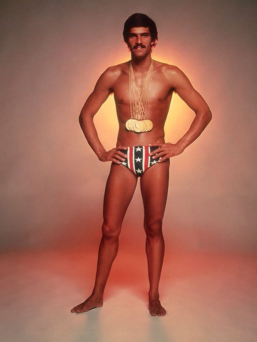 Happy Birthday Mark Spitz! Here\s on circa 1973, with the seven gold medals he won at the 1972 Munich Olympic Games.