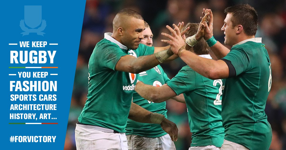 They have everything already EXCEPT the Irish back line. Come on Ireland #ForVictory #ITAvIRE https://t.co/UkltFXKxqq