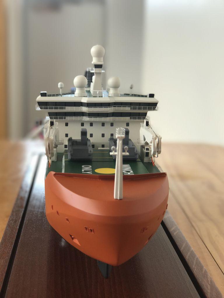 Model of Australia's new Antarctic icebreaker on public display