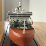 Model of Australia's new Antarctic icebreaker on public display