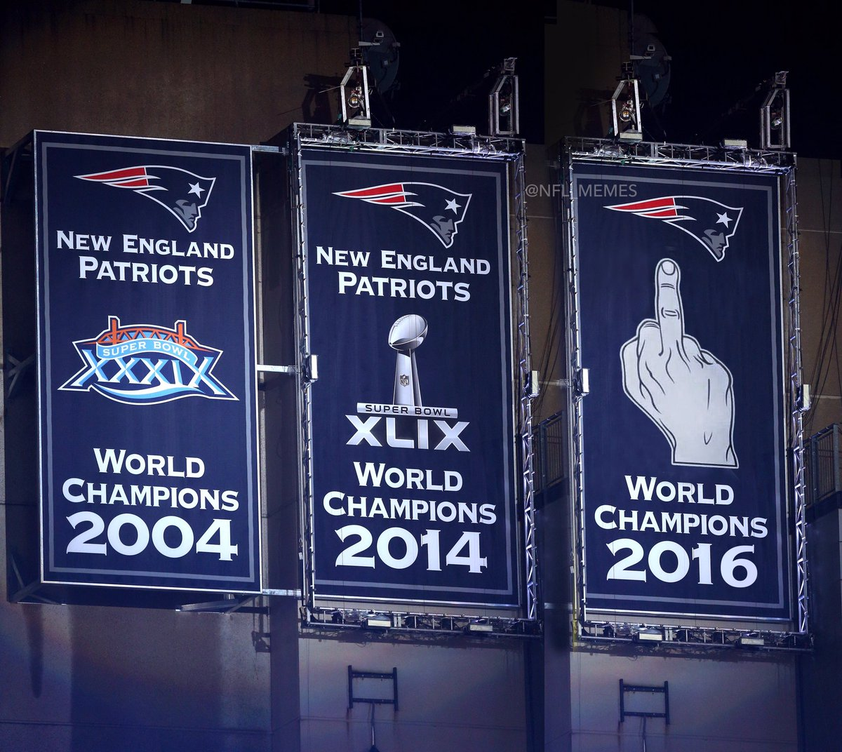 Marvelous Gillette Stadium Championship Banners