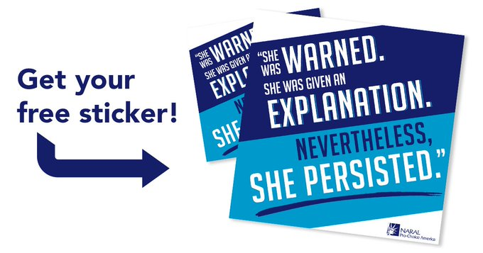 FREE She Persisted StickerFreebieFriday Coupons freebie samples giveaway FreeSAMPLE
