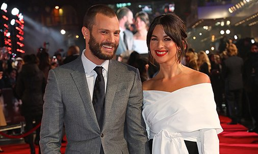 Jamie Dornan took his real-life leading lady to @FiftyShades premier: