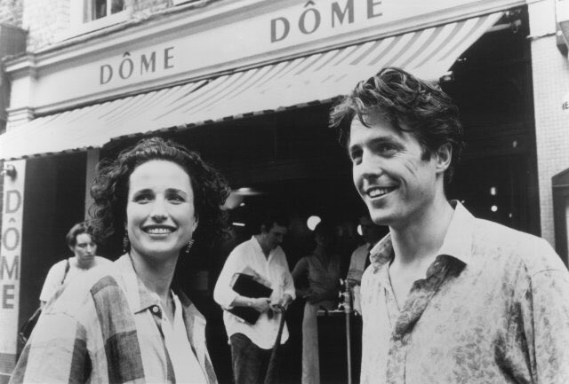 #Oldcinema Andie MacDowell and Hugh Grant in Four Weddings and a Funeral (1994) https://t.co/M7D9anPmzM