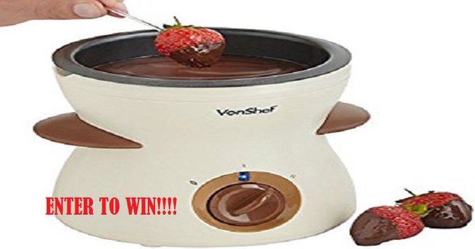 Electric Chocolate Fondue Melting Pot Giveaway