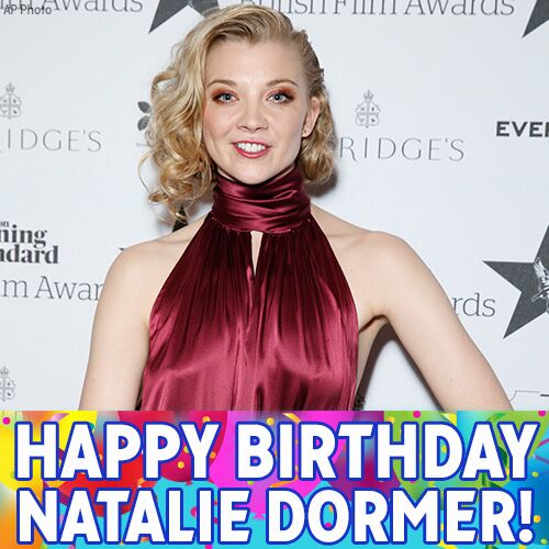 "Happy Birthday to ""Game of Thrones\"" star Natalie Dormer!"