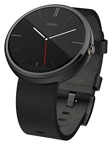 #fashion #smart #watch #free #style #giveaway #music Motorola Moto 360 SmartWatch for Android 4.3 or Higher – Black Leather #rt