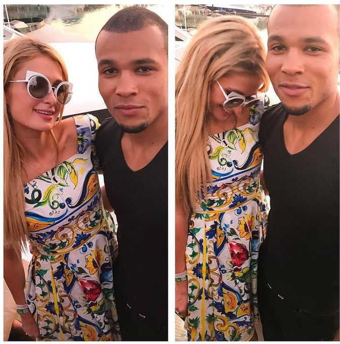 Chris Eubank Jnr wishes Paris Hilton a happy birthday and posts snap of pair