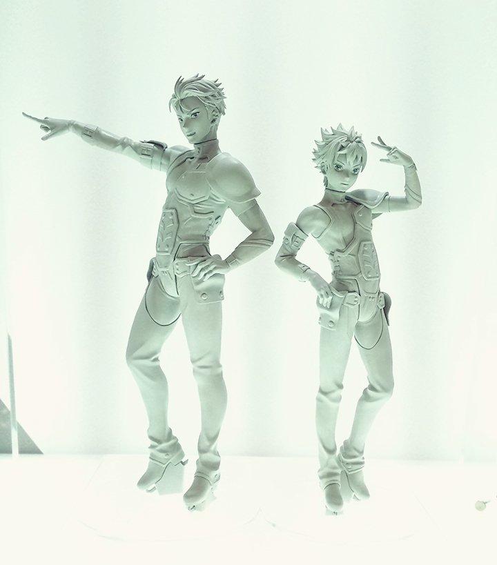 ワンフェスにて「KING OF PRISM」仁科カヅキ&大和アレクサンダーのフィギュア原型を初展示中! たくましい筋肉や