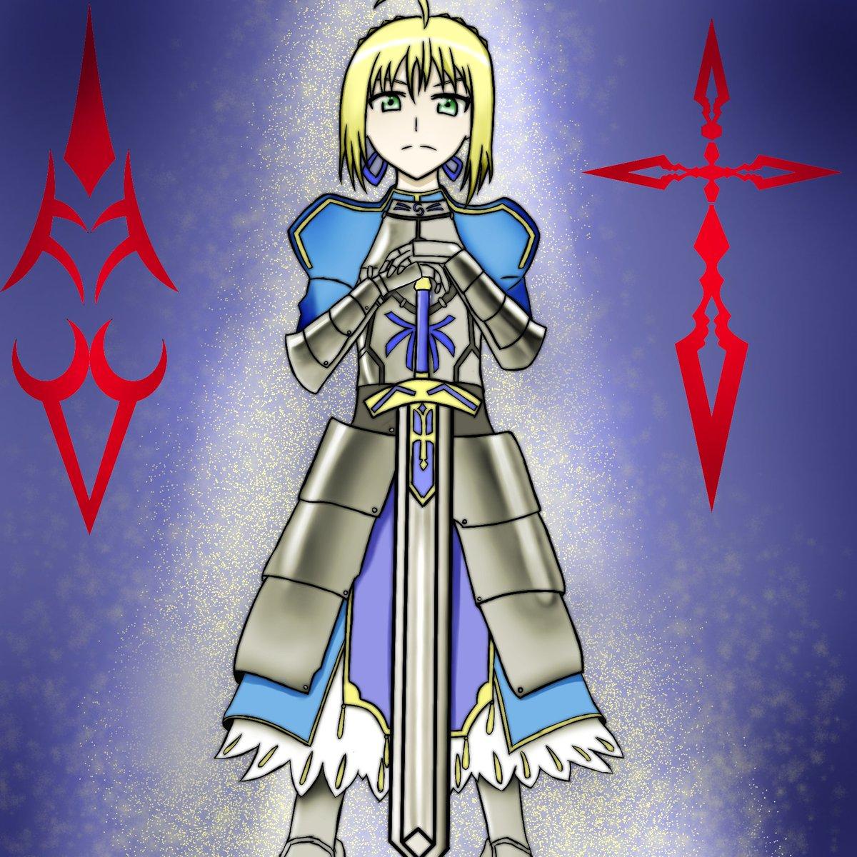 ---問おう。あなたがわたしのマスターか。Fate/stay night より セイバー描きました!