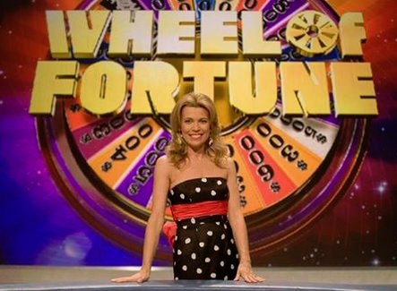 "Happy 60th Birthday to the beautiful Vanna White. She has been the hostess of ""Wheel of Fortune\"" since 1982!"
