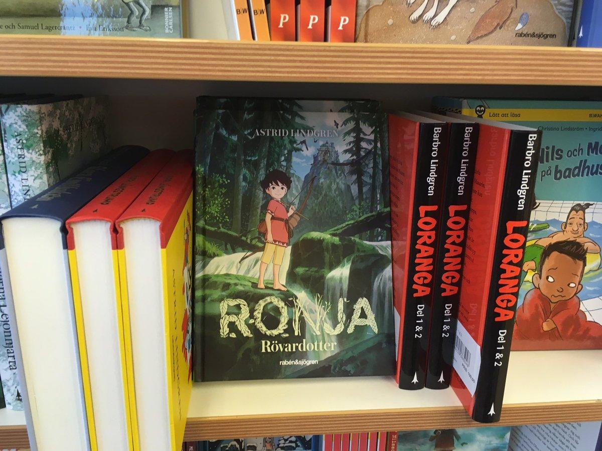 絵本ではないですが…ヨーテボリの本屋さんで見つけた「山賊の娘ローニャ」#北欧絵本TNLF
