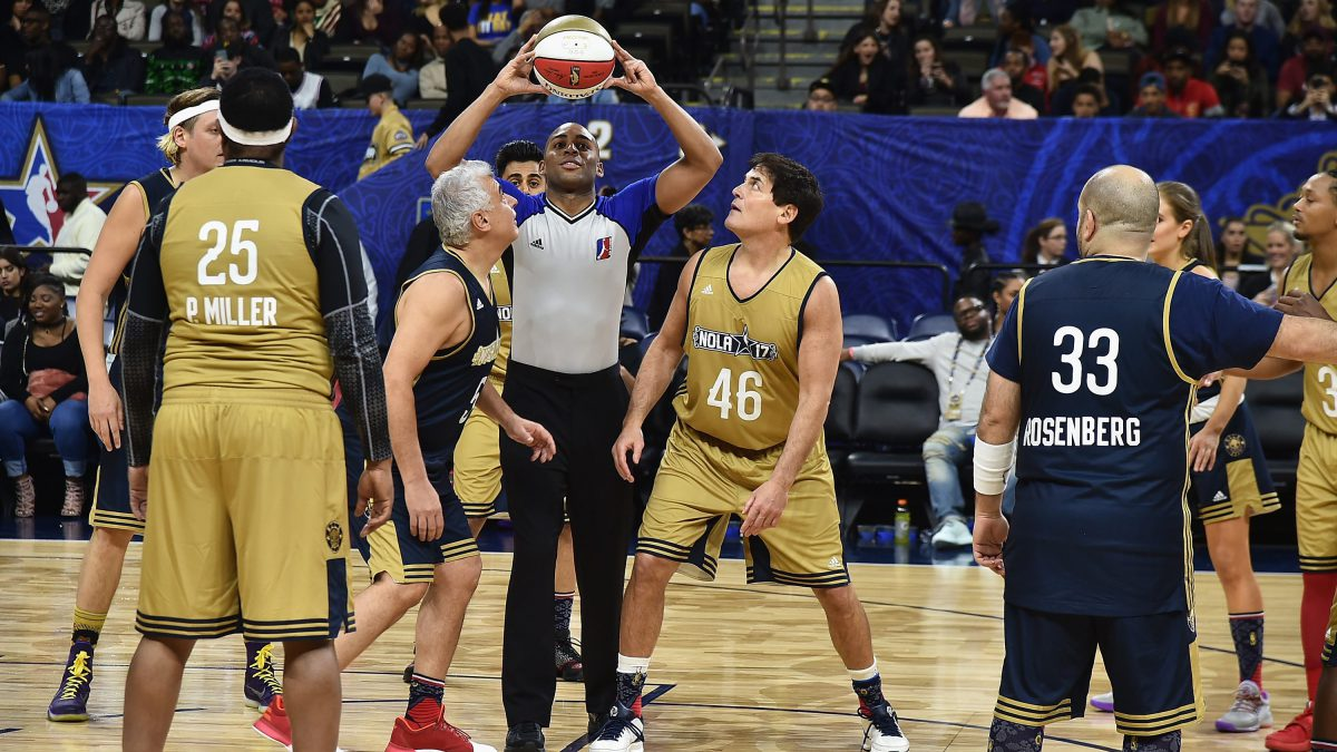 Mark Cuban wore No. 46 in celebrity basketball game in response to President Trump's insult